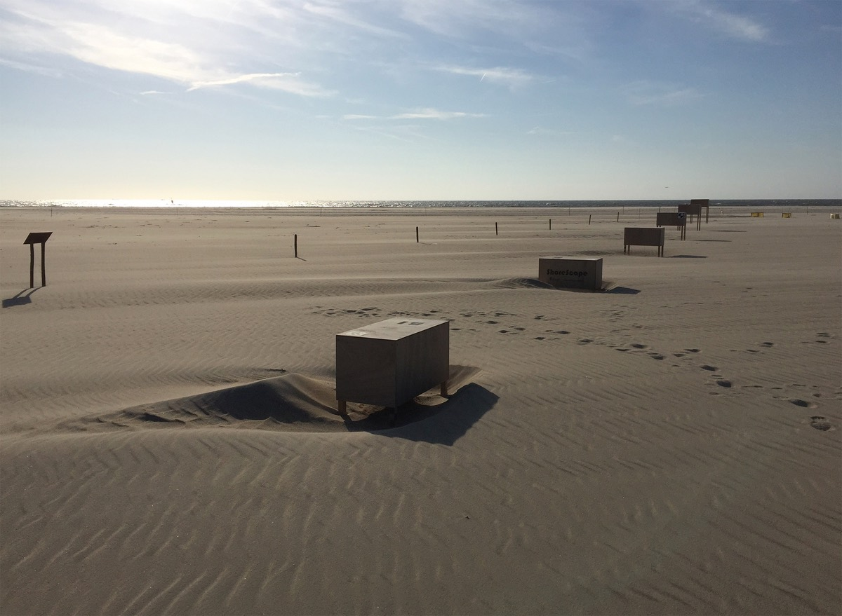 boxes on the beach